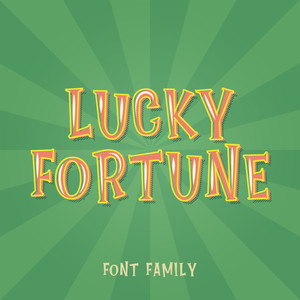 lucky fortune font family