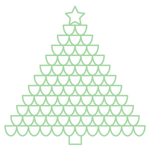 scalloped christmas tree