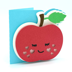 apple and hearts card