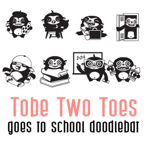 tobe two toes goes to school doodlebat
