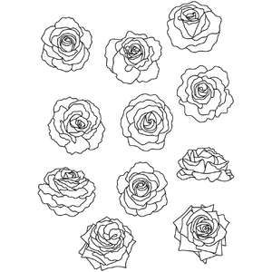 roses flower coloring stickers