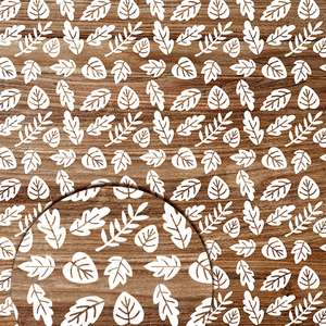 autumn wood pattern with leaves