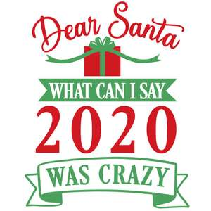 dear santa 2020 was crazy