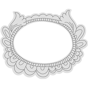 oval flourish frame sketch