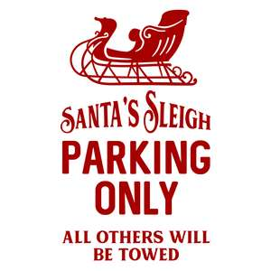 santa's sleigh parking