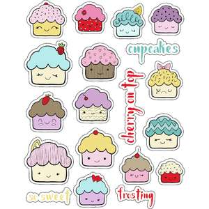 ml kawaii cupcakes stickers