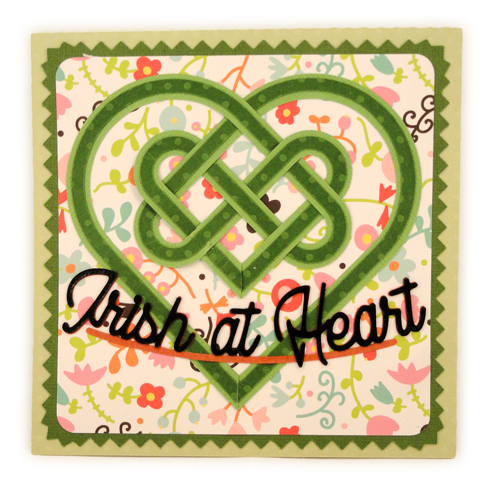 celtic card irish heart
