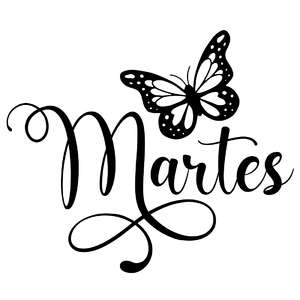 martes butterfly word