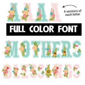 mother's blessing color font