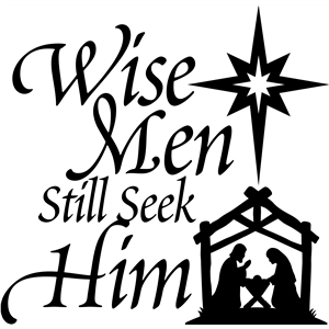 'wise men still seek him' christmas vinyl phrase