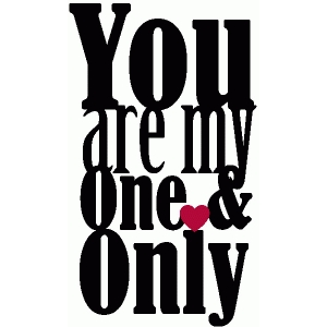 you are my one & only phrase / subway art