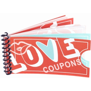 love coupon ticket book