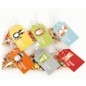 woodland thank you tags