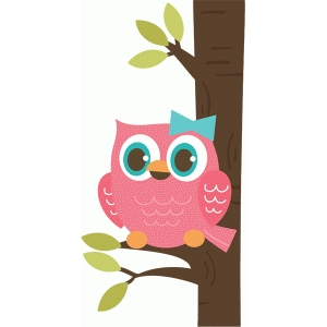 girl owl in tree