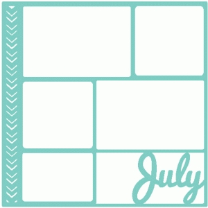 july scrapbook page / template / layout