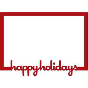 frame: happy holidays
