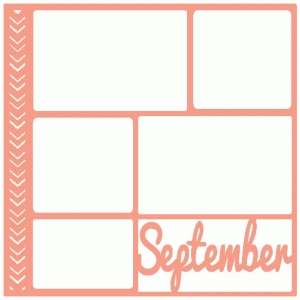 september scrapbook page / template / layout