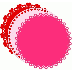 12x12 circle background shapes hearts