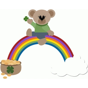 pot of gold end of rainbow bear