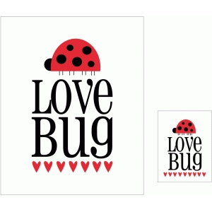 love bug 3x4 and 8x10 print & cut quote cards