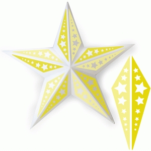 star metal star decor