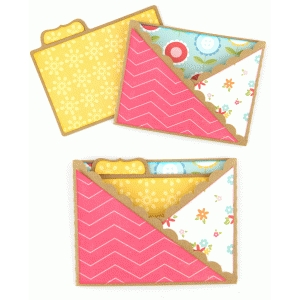 a2 tabbed card with scalloped sleeve