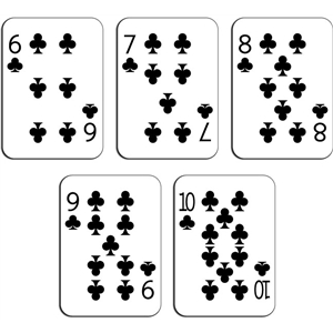 playing cards - clubs 6-10