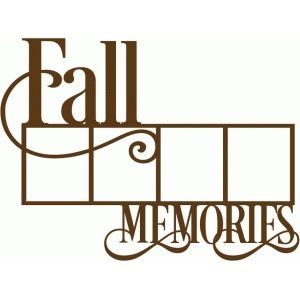 fall memories frame