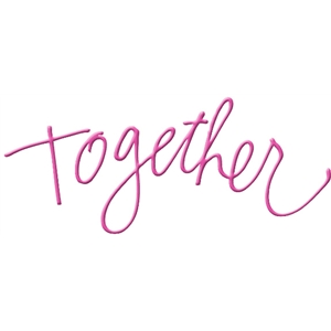 together handwritten word