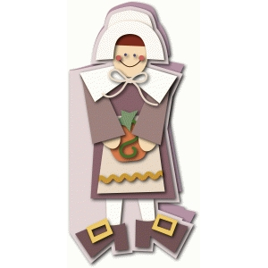 pilgrim woman tall card