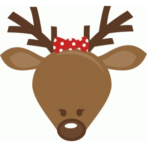 cute girl reindeer head