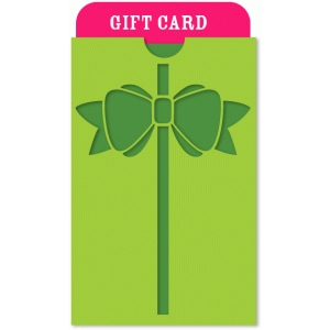 ribbon & bow gift card holder