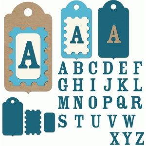 sweet layered alphabet tag set