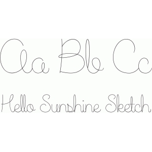 hello sunshine sketch font