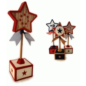 star 3d med on a stick