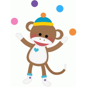 sock monkey juggling