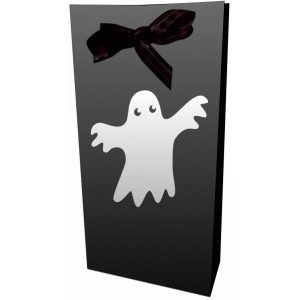 ghost halloween trick or treat bag