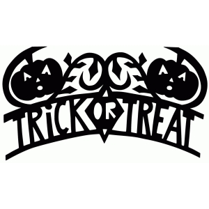 trick or treat halloween banner