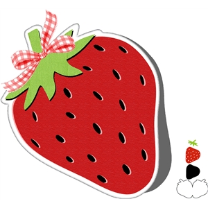 strawberry shape card