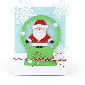 snow globe santa claus card