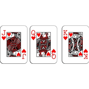 playing cards - hearts royalty