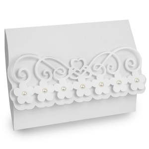 flower flourish folded wedding card