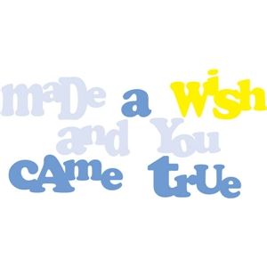 made a wish phrase