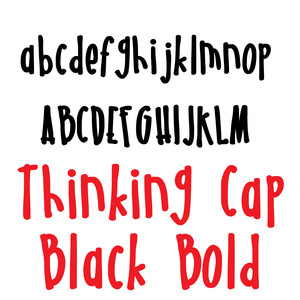 pn thinking cap black bold