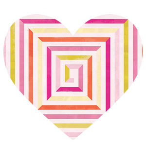 geometric patterned heart