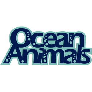 'ocean animals' phrase