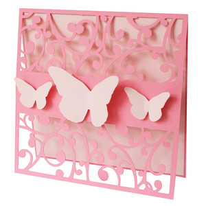 flourish and butterflies card