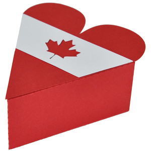 canada day heart box