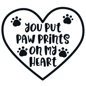 pawprints on my heart quote