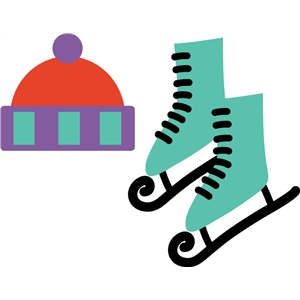 ice skates and hat